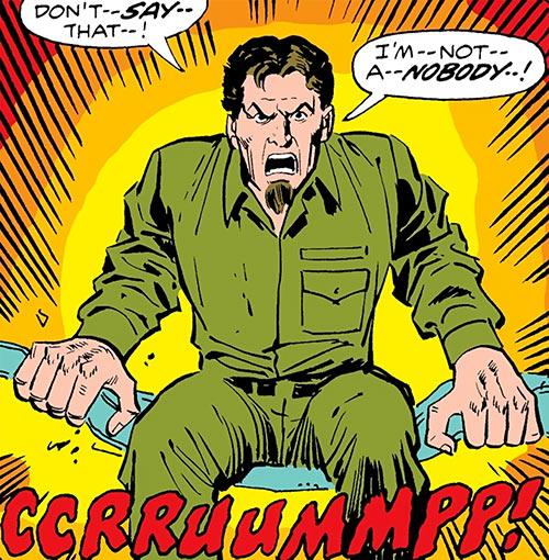 Meteor Man aka Looter (Marvel Comics) no costume, prison uniform