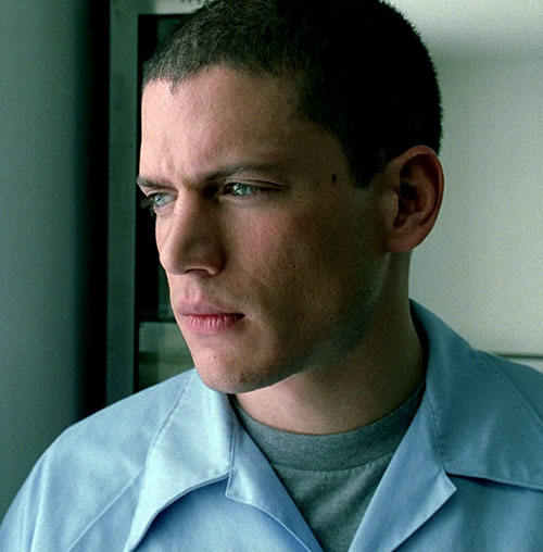 Michael Scofield (Wentworth Miller in Prison Break) face closeup