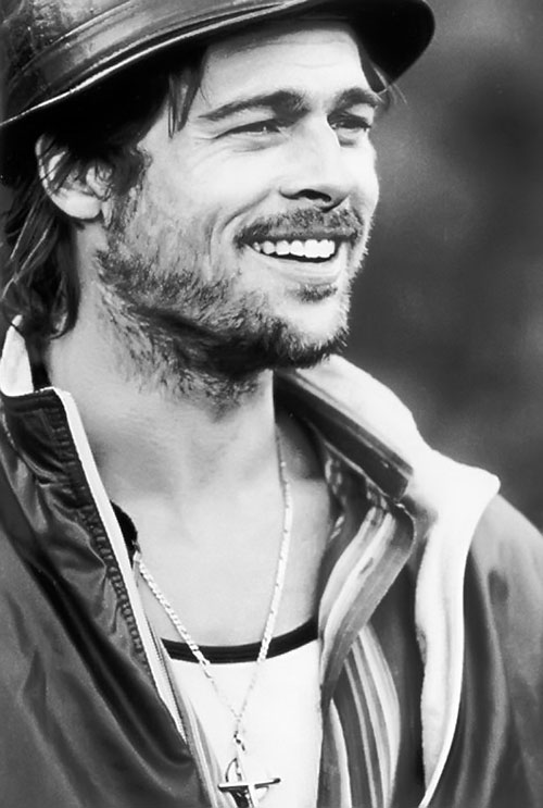 Mickey O'Neil (Brad Pitt in Snatch) B&W photo