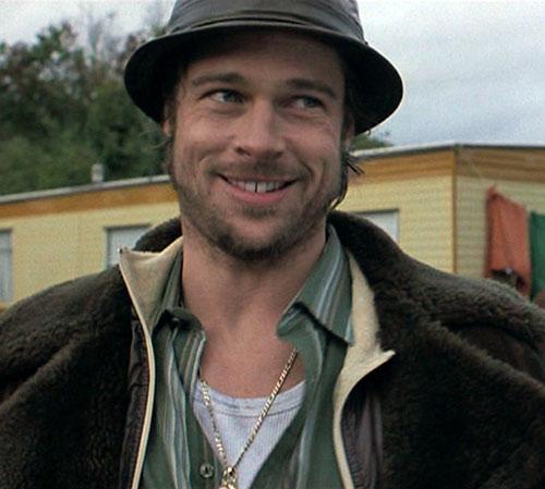 Mickey O'Neil (Brad Pitt in Snatch) smiling
