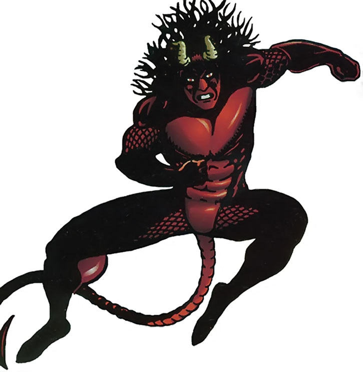 Midnight Devil leaps in over white background