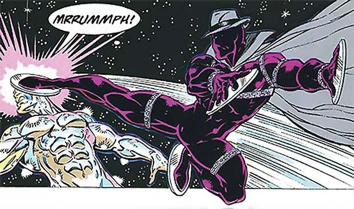 Midnight Sun kicks the Silver Surfer in the face