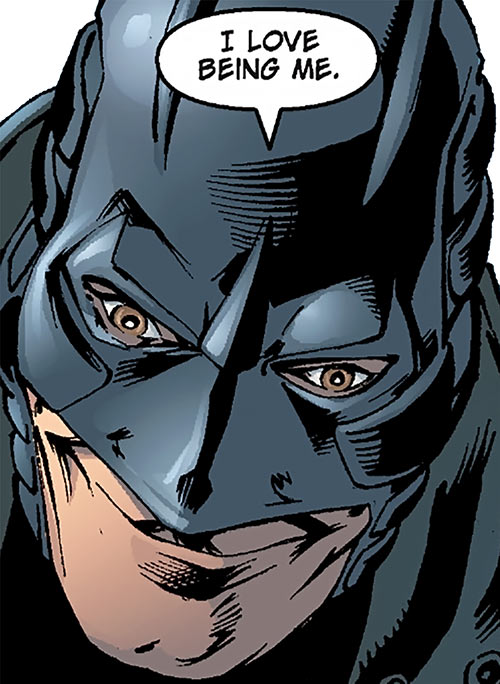Midnighter of the Authority (Wildstorm Comics) smiling face closeup