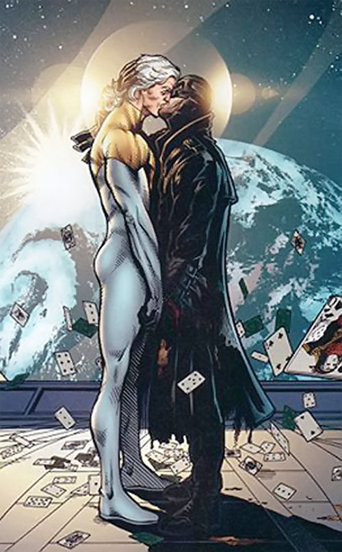 Midnighter of the Authority (Wildstorm Comics) kissing Apollo