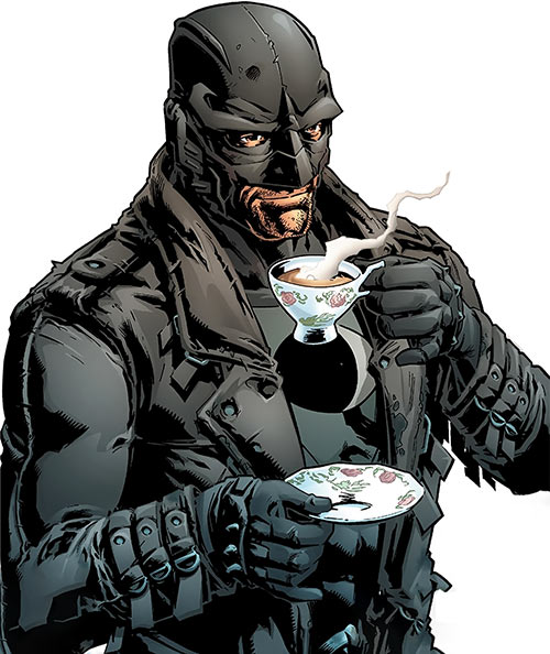 Midnighter of the Authority (Wildstorm Comics) having a cuppa