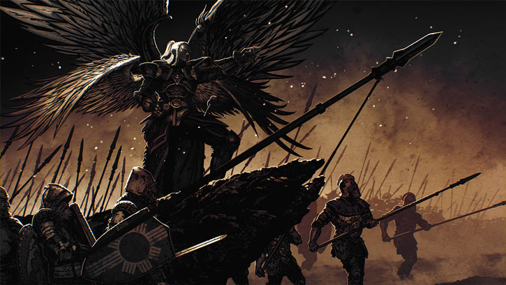 Might and Magic X Legacy game concept art - Archangel Michael and Falcon army