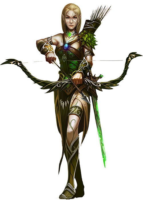 Might and Magic X Legacy game concept art - Elf ranger