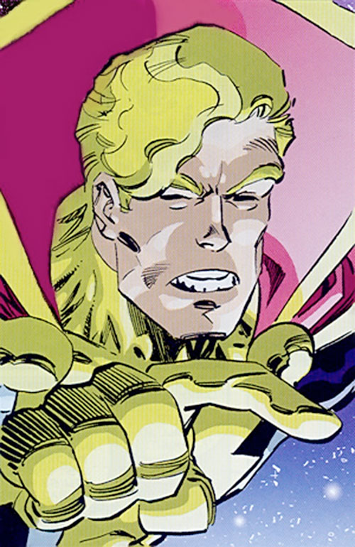 Mighty Man (Savage Dragon comics) squinting face closeup