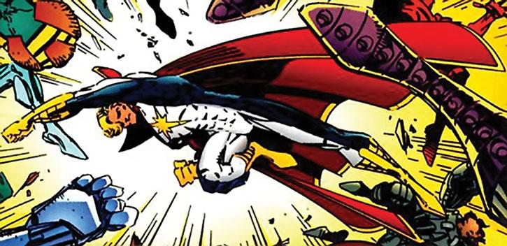 Mighty Man disperses super-villains