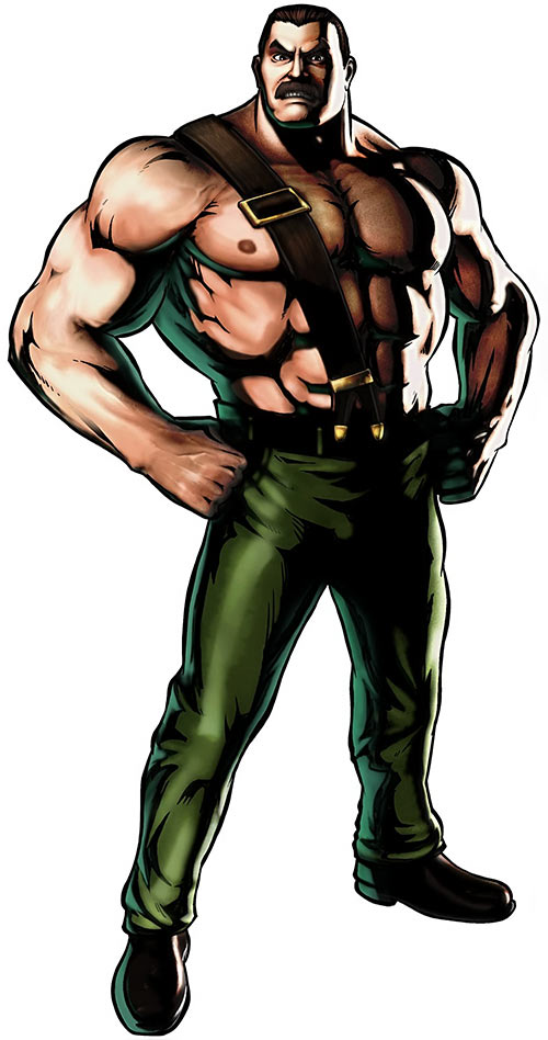 Mike Haggar (Final Fight and Street Fighter games) hands on hips