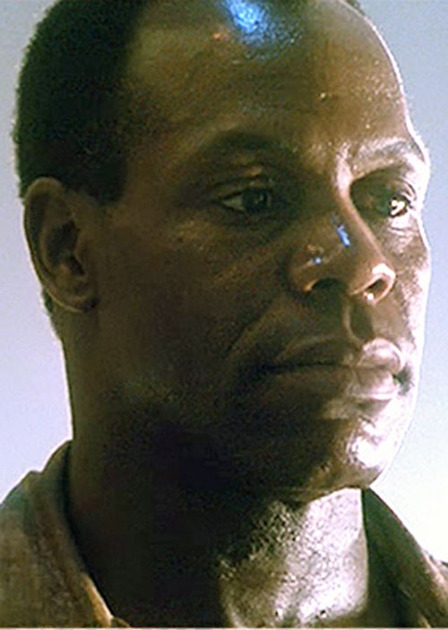 Mike Harrivan (Danny Glover in Predator II) face closeup