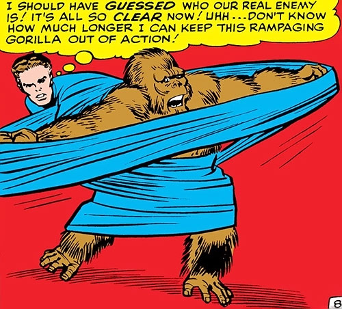 Mikhlo the gorilla (Super-Apes of the Red Ghost) (Marvel Comics) vs. Mister Fantastic