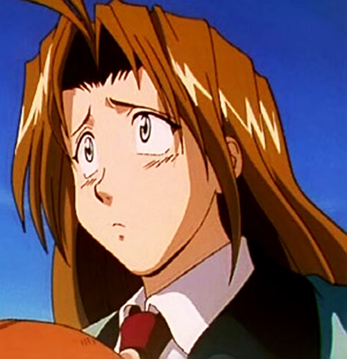Milly Thompson (Trigun) looking distraught