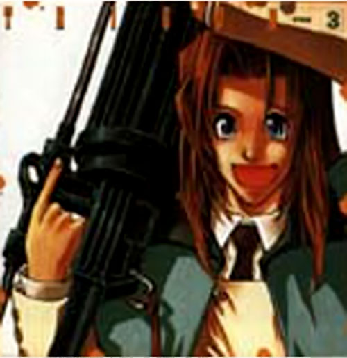 Milly Thompson (Trigun) with her gun
