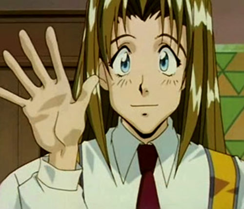 Milly Thompson (Trigun) waving
