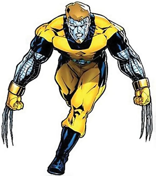 Mimic of the Exiles (Marvel Comics) with Wolverine Claws and Colossus skin