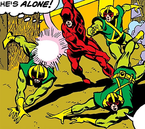 Daredevil (Marvel Comics) fights Mind-Wave's henchmen