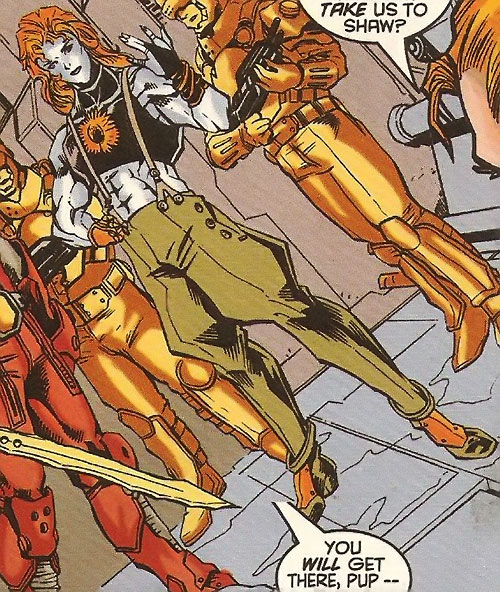 Mindmeld (X-Force enemy) (Marvel Comics) along with guards