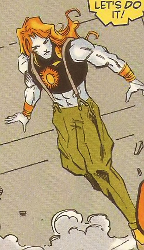 Mindmeld (X-Force enemy) (Marvel Comics) ready for action
