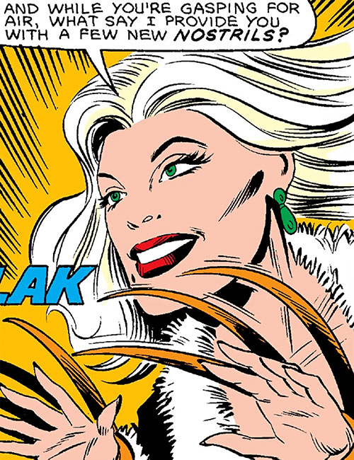 Mink (Marvel Comics) (Squadron Supreme) with her claws out