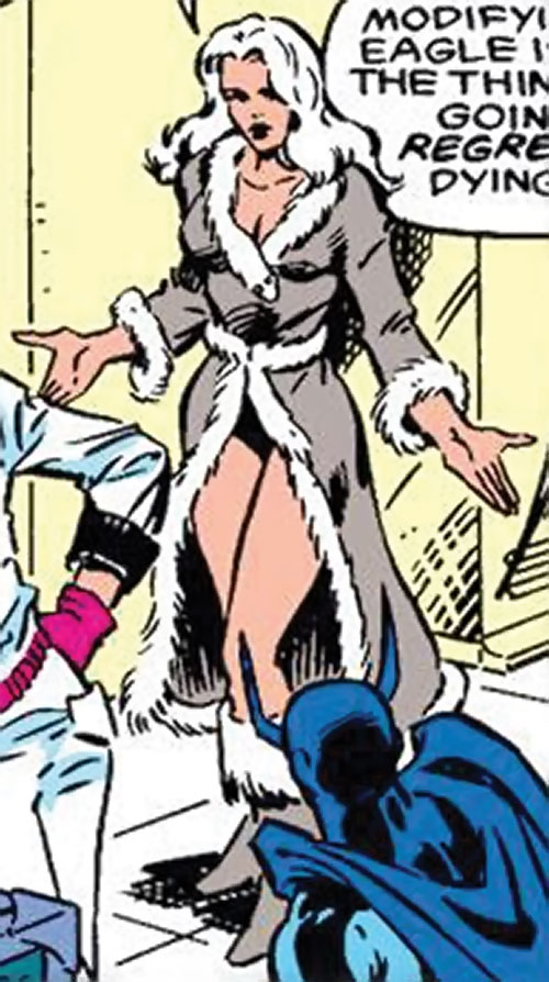 Mink (Marvel Comics) (Squadron Supreme) shrugging
