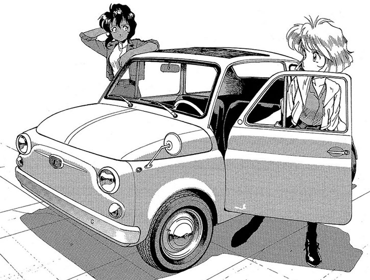 Minnie May with Rally Vincent and her Fiat