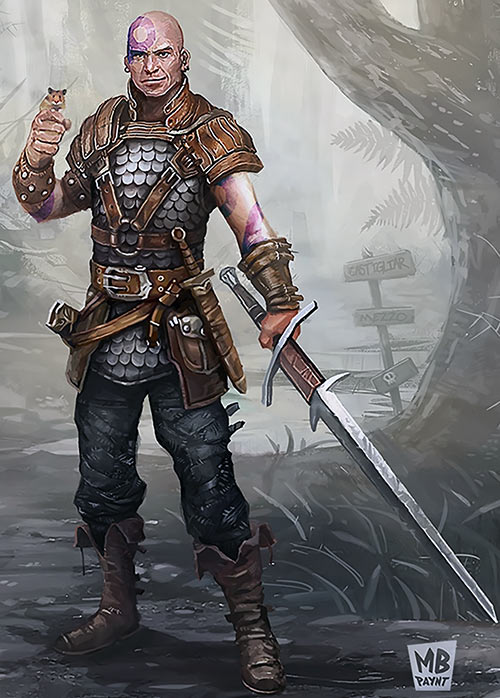Minsc (Baldur's Gate) (Dungeons and Dragons) art By Maxime Paynt Brienne edit