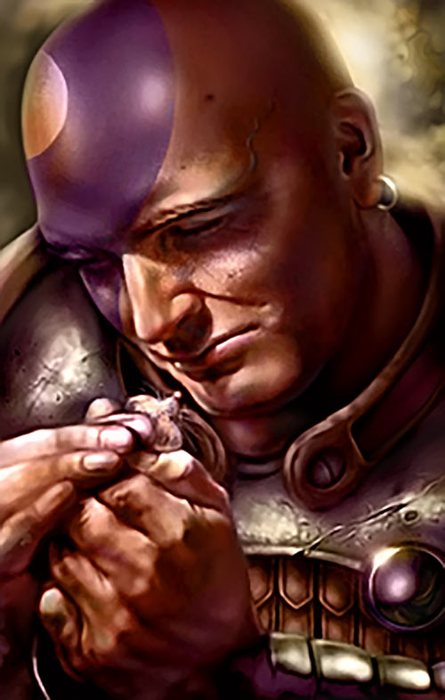 Minsc (Baldur's Gate) (Dungeons and Dragons) portrait sad