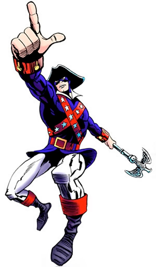 Minuteman (Freedom Force) pointing