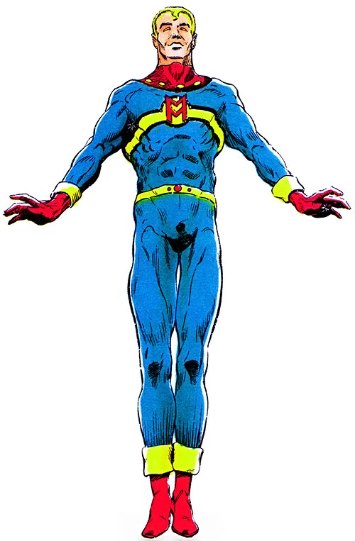 Miracleman over a white background