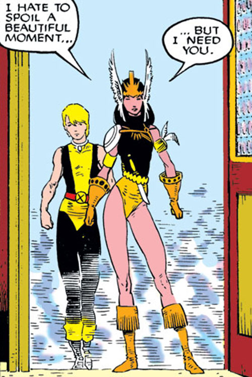 Mirage (Danielle Moonstar of the New Mutants) (Marvel Comics) as a Valkyrie - and Cypher