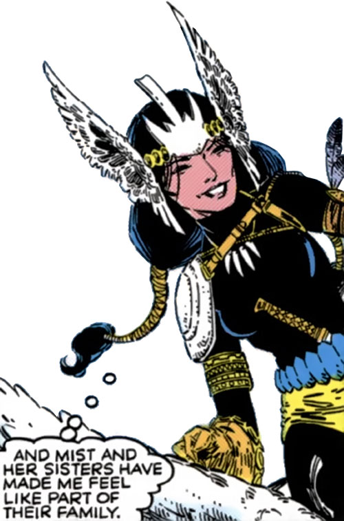 Mirage (Danielle Moonstar of the New Mutants) (Marvel Comics) as a Valkyrie