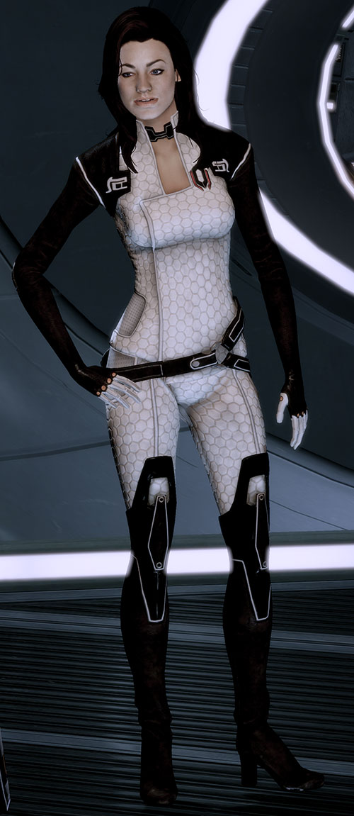 Miranda Lawson (Mass Effect) with hand on her hip