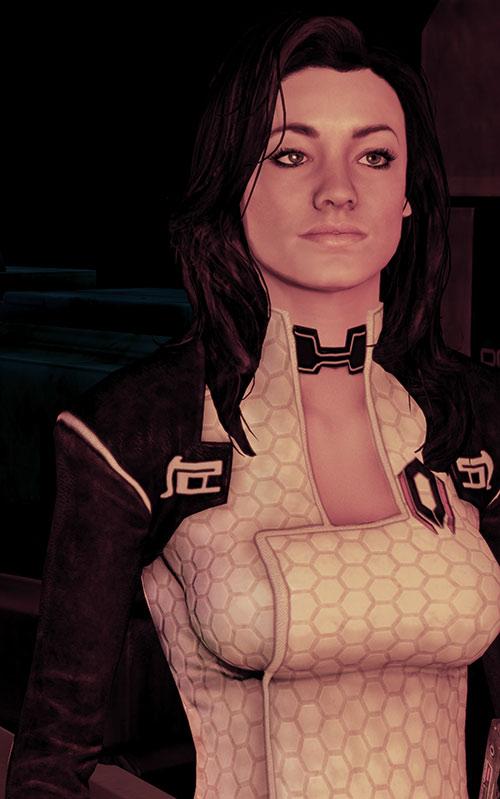 Miranda Lawson (Mass Effect) in red lighting