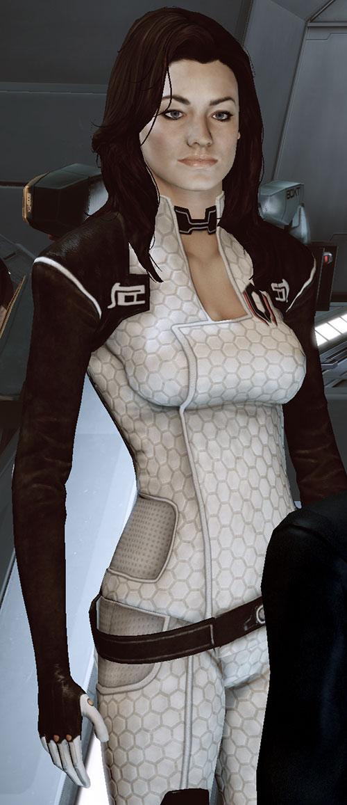 Miranda Lawson (Mass Effect) on the Normandy bridge