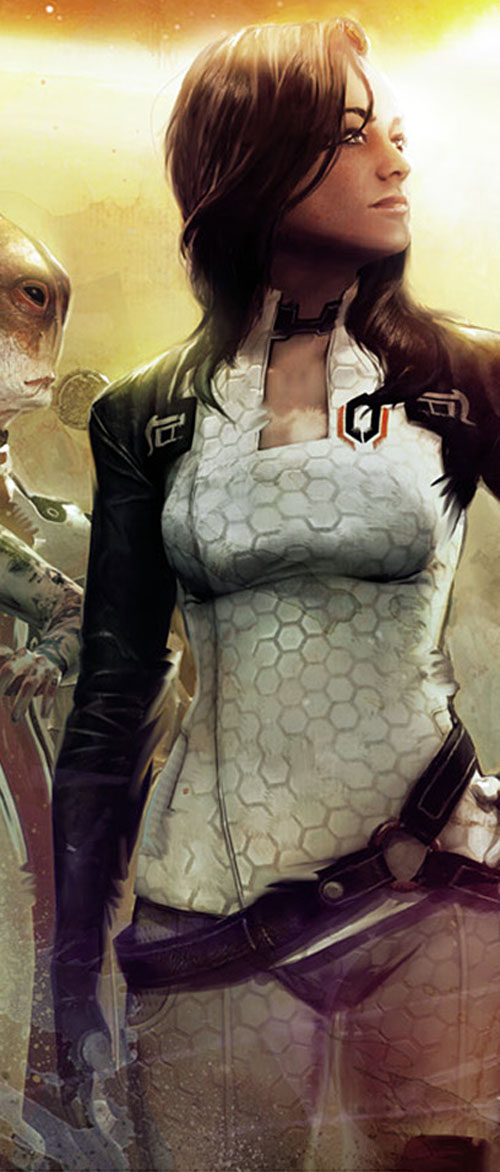 Miranda Lawson on the Art of Mass Effect cover
