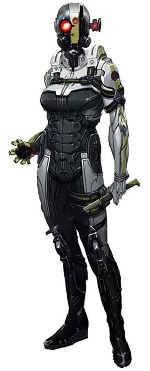 Mass Effect - Cerberus sniper hardsuit concept art