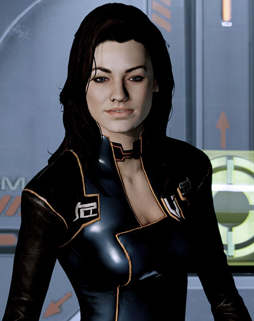 Miranda Lawson (Mass Effect) in black, angry