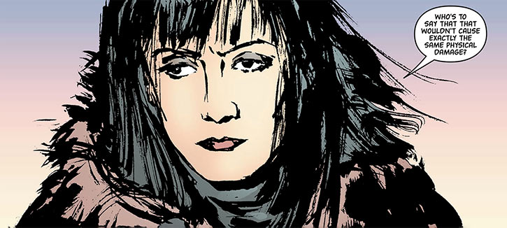 Miranda Zero of Global Frequency (Wildstorm Comics) Jon Muth closeup face