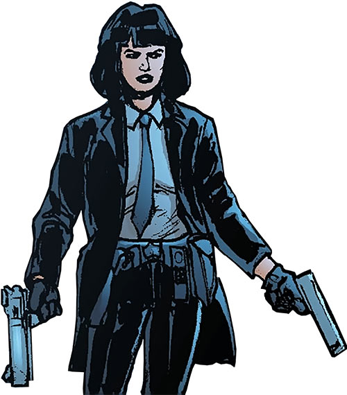 Miranda Zero of Global Frequency (Wildstorm Comics) with paired pistols