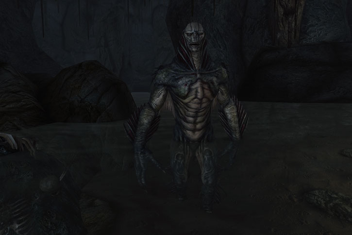 Mirelurk King in Fallout 3 in an underground pool
