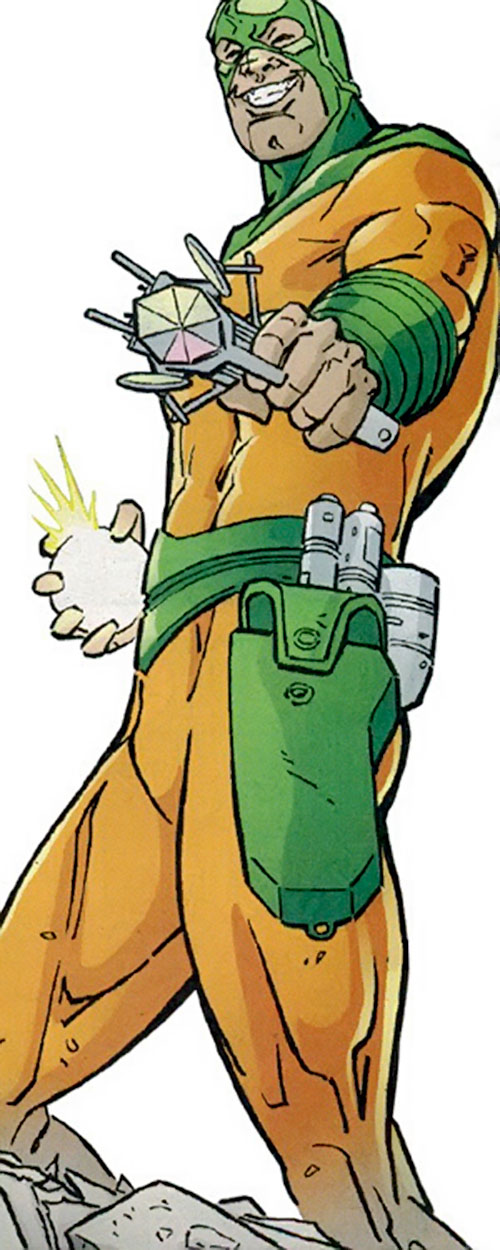 Mirror Master (Flash rogue) (DC Comics) pointing a mirror gun