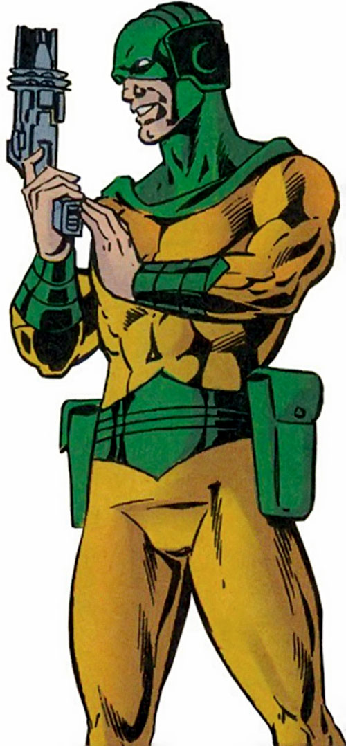 Mirror Master (Flash rogue) (DC Comics) with his handgun