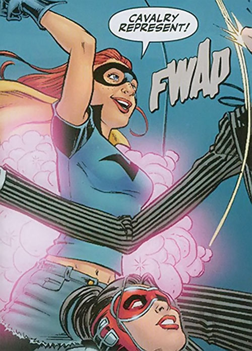 Misfit of the Birds of Prey (DC Comics) and Manhunter