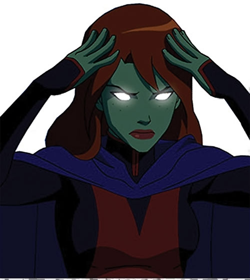 Miss Martian (Young Justice animated series) focusing her telepathy