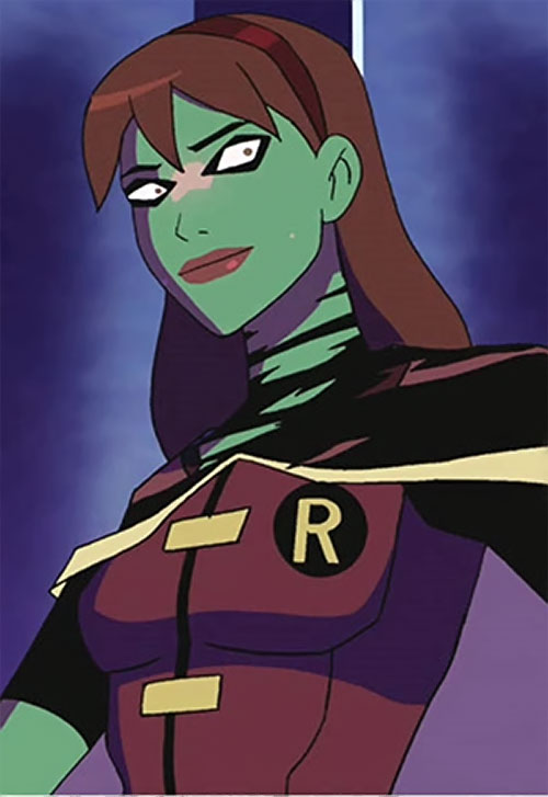Miss Martian (Young Justice animated series) with Robin's costume