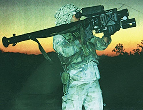 Soldier with a Stinger missile