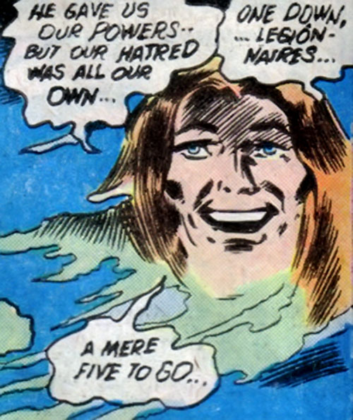 Mist Master of the League of Super-Assassins (DC Comics) as a floating vapor head