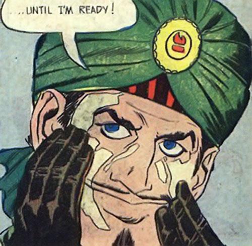 Mister Blaze (Peacemaker enemy) (Charlton Comics) protecting his skin