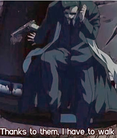 Mister Chang (Black Lagoon) on the phone